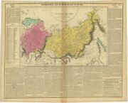 Antique Map Of The Russian Empire C.1820