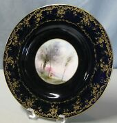 Royal Worcester 10 1/4 Plate With Hand Painted Landscape By George Evans 4