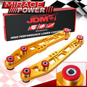 Jdm Sport Gold Lower Control Arm Cross Design + Red Bushings For 92-95 Civic