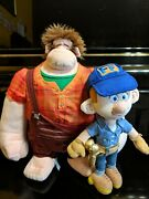 Disney Store Plush Characters From Wreck It Ralph And The Dvd From 2013