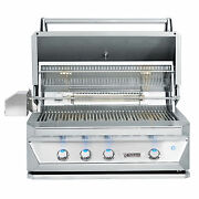 Twin Eagles 36 Inch Built-in Propane Gas Grill With Infrared Rotisserie And Sear