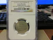 1870and039s R-ct-wb-10a Holmes Booth And Haydens Ngc Au 55 German Silver Uniface
