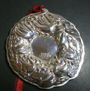 Towle Seven Swans A Swimming Wreath Sterling Silver Christmas Ornament