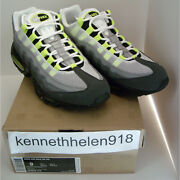 New 2012 Nike Air Max 95 Og 554970-174 Neon Green Mens Size 9