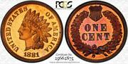 1881 Indian Head Cent   Pcgs Pr66 Red Brown   Proof Moa25662875