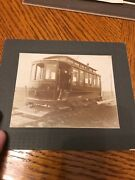 Rare Real Photo Electric 1 Car Trolley Salt Lake Cabinet Style Picture Train