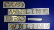 Crownline Boat Emblem 30 Gold + Free Fast Delivery Dhl Express - Raised Decals