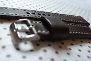 Dark Brown Leather Watch Strap 18 To 24 Mm Handmade In The Uk