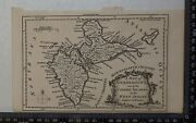 1759 A Map Of Guadeloupe One Of The Caribby Islands In The West Indies French