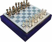 Collectible Full Brass Chess Set 12 Hand Carved Meena -100 Brass Pieces/coins.