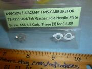 Lot Of 3 Marvel Schebler Carb Washer Lock Tab P/n 78-a111