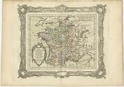 Antique Map Of France Under The Reign Of St. Louis And Louis Viii By Zannoni 17