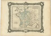 Antique Map Of France Under The Reign Of St. Louis By Zannoni 1765