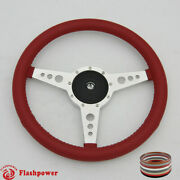 15 Classic Steering Wheel Red Chevy Gmc Impala Gto W/ Horn