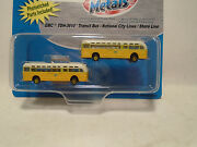 Classic Metal Works 52302 2 N Scale Gmc Tdh-3610 Transit Bus National City Lin