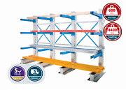 Anco Adjustable Single Sided Cantilever Racking Heavy Pipes/ Tubes Storage