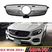 Front Racing Diamond Grills Billet Bumper Grille Cover For Mercedes Gle300/320