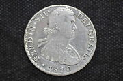 Mexico - Spanish Colonial 1810 Mo Hj 8 Reales Silver Coin Wt 26.64 G C25