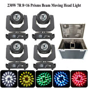 4pcs/flight Case 7r 230w Beam Moving Head Lights Dmx512 Stage Dj Wedding Lights