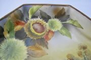 Beautiful Nippon Hand Painted Hexagonal Footed Plate Dish H 2 2/8 1420