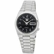 Seiko 5 Automatic Black Dial Stainless Steel Watch Snk063j5