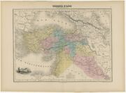 Antique Map Of Turkey In Asia By Migeon 1880