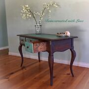 Antique Desk, Patina Rusted, French, Writing Desk, Vanity Table, Desk, Vanity
