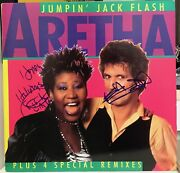 Aretha Franklin And Keith Richards Signed Jumpin Jack Flash 12 Lp