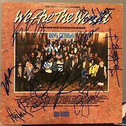 We Are The World Signed 12 Lp Lionel Richie Cyndi Lauper Billy Joel Huey Lewis