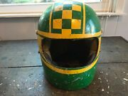 1970 Vintage Bell Star Helmet Full Face Indy Car Race F1 Motorcycle 7 3/8 Toptex