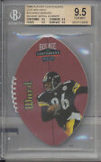 1998 Playoff Contenders Leather Gold 74 Hines Ward /55 Rc Bgs 9.5 Gold Label