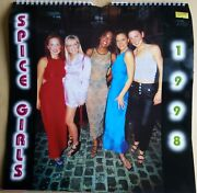 Spice Girls 1998 Rare Calendar Vintage Posters Posh Scary Sporty Scary Ginger