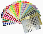 Colored Dot Stickers For Decorating Inventory 13mm 1/2 Inch Labeling 1920 Pack