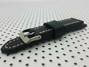 Dark Green Leather Watch Strap 18mm To 24mm Handmade In The Uk