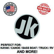 Jackson Kayak Round Decal Sticker For Kayak Canoe Truck Bass Boat Rv And More