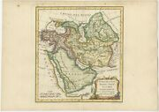 Antique Map Of Turkey In Asia By Vaugondy 1778