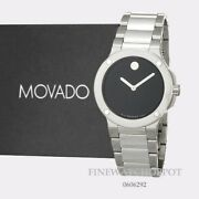 Authentic Movado Womens Extreme Quartz Silver Tone Stainless Steel Watch 0606292