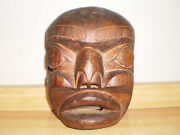 Chief Tony Hunt Authentic Tribal Kwakwakaand039wakw Signed Wooden Mask Sculpture