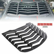 Abs Rear Window Louver Cover Sun Shade Vent For 15-20 Ford Mustang