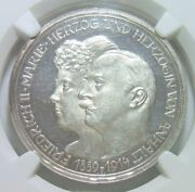 Ngc Pf62uca Germany Anhalt 1914 3 Mark Proof Silver Only 1000 Mintage Very Rare
