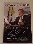 President George Hw Bush Hand Signed All The Best W/coa Signed In Person