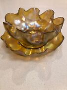 Lct Favrile Master Salt Cellar Series Late 1800's Bowl And Saucer Mint