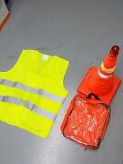➨😊10x 18 Collapsible Led Traffic Safety Parking Pop Cones + Reflective Vest🌏█