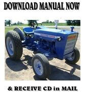 1965-1975 Ford 2000 / 3000 Tractor Factory Ford Repair Service Manual On Cd