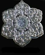 2005 Lenox Snowflake With Crystal Sterling Silver Christmas Ornament