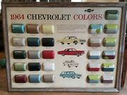 1964 Chevrolet Dealer Showroom Color Chip Chart Chevelle Wagon Corvair