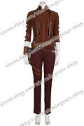 The Avengers 4 Endgame Cosplay Nebula Costume Red Outfit Uniform Cool Suitable