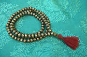 Mala From Solid Silber-beads From Nepal With Mantra Om Mane Padme Hum