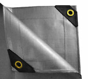 12 Mil Heavy Duty Canopy Tarp Silver 3 Ply Coated Tent Car Boat Cover Waterproof