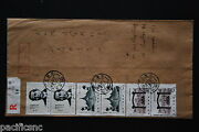 China Prc J68 Set X 4 On Cover - Registered To Singapore A6